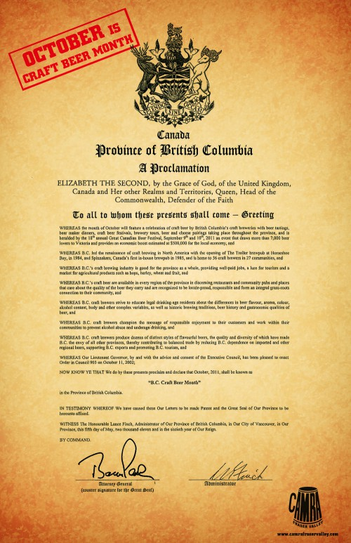 D 565 Proclamation Poster